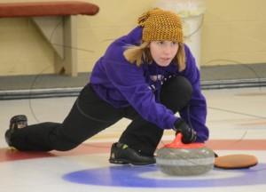 Girls curling