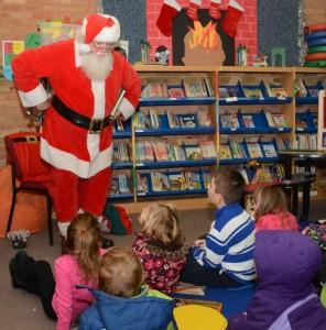 Santa at library